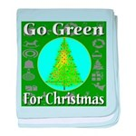 Go Green For Christmas baby blanket