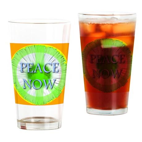 Peace Now Symbol Daisy Fleaba Drinking Glass