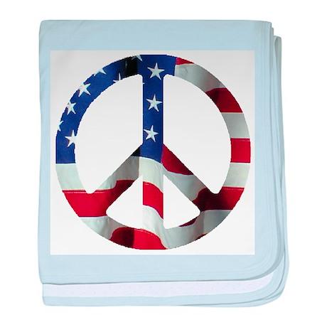 Peace Symbol Flag baby blanket