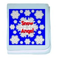Snow Angel baby blanket