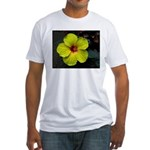 .yellow hibiscus. Fitted T-Shirt