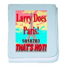 Larry Does Paris baby blanket