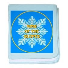King of the Slopes baby blanket