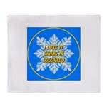 I Love It Skiing In Colorado Throw Blanket