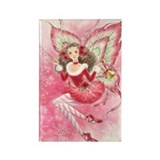 Candy Cane Fairy Rectangle Magnet