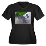 .so blue. Women's Plus Size V-Neck Dark T-Shirt