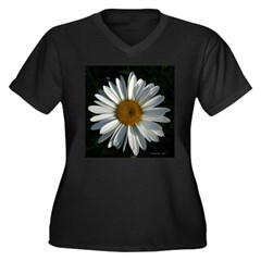 .whole-daisy. Women's Plus Size V-Neck Dark T-Shir