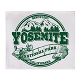 Yosemite Old Circle Green Throw Blanket