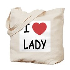 I heart lady Tote Bag