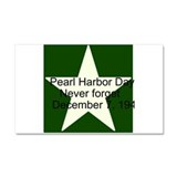 Pearl harbor day: Never forge Car Magnet 20 x 12