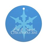 Christmas 2011 Snowflake Ornament (Round)