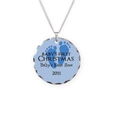 Baby's First Christmas 2011 Necklace Circle Charm