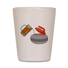 Fueled By Beer Shot Glass