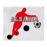 Albanian Football Player Throw Blanket