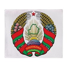 Emblem of Belarus Throw Blanket