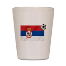 Serbian Football Flag Shot Glass