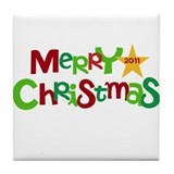 Merry Christmas 2011 Tile Coaster