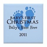 Baby's First Christmas 2011 Tile Coaster