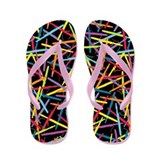 Colorful Bassoons Flip Flops (black)