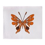 Butterfly Tattoo Throw Blanket
