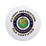 Flight Instructor Ornament (Round)