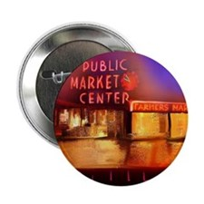 "Cute Pike place market 2.25"" Button (10 pack)"