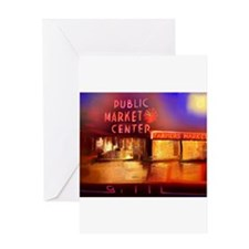 Cute Pike place market seattle Greeting Card