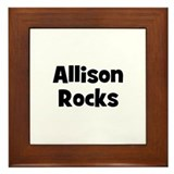 Allison Rocks Framed Tile