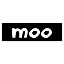 MOO Bumper Sticker