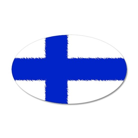 Flag of Finland 22x14 Oval Wall Peel