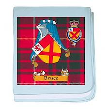 Bruce Scottish Family Name baby blanket