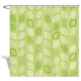 Leaves Green Shower Curtain