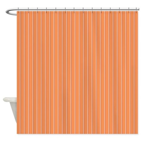 pinstripe 2 color orange shower curtain by admin cp45405617