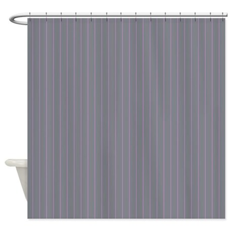 Pinstripe Grey Purple Shower Curtain By Admin Cp45405617