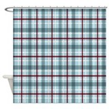 Plaid Basic Blue Red Shower Curtain
