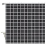 Plaid Classic Black Shower Curtain