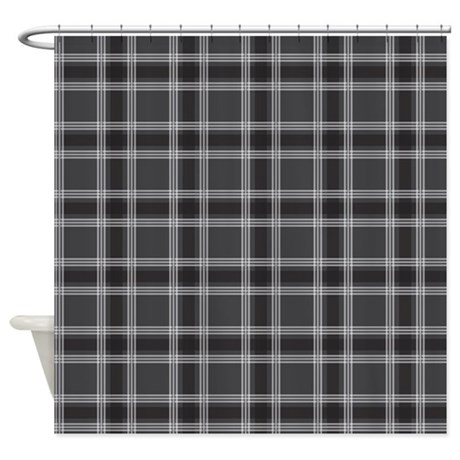 gaat gifts gaat bathroom d cor plaid classic black shower curtain