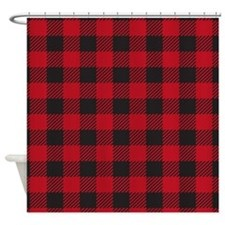 Plaid Red Shower Curtain