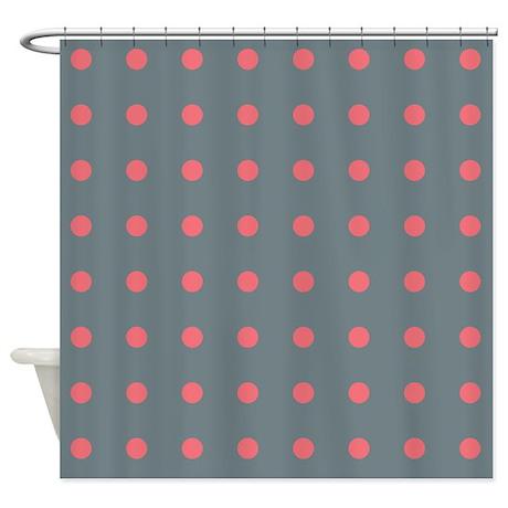Dot gifts gt dot bathroom d 233 cor gt polka dots grey pink shower curtain