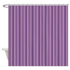 Stripes Four Purple Shower Curtain