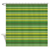 stripey shower curtain