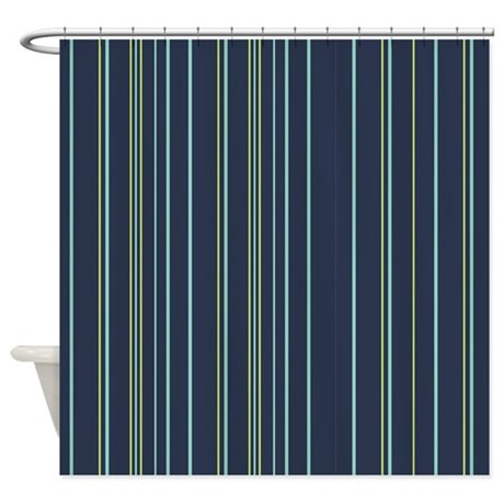 Stripes Multi Navy Shower Curtain By Admin Cp45405617