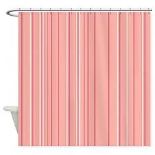 Stripes Multi Peach Shower Curtain