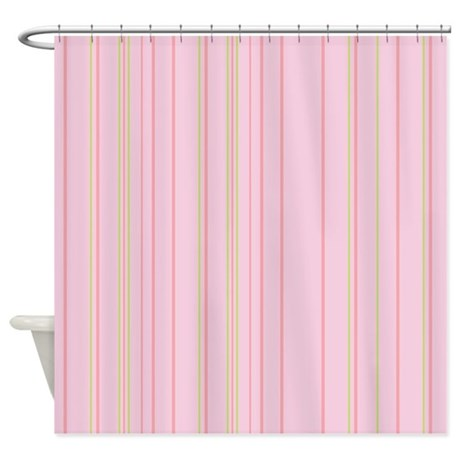 stripes multi pink shower curtain by admin cp45405617