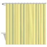 yellow vertical stripes shower curtain