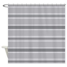 Stripes PJ Grey Shower Curtain