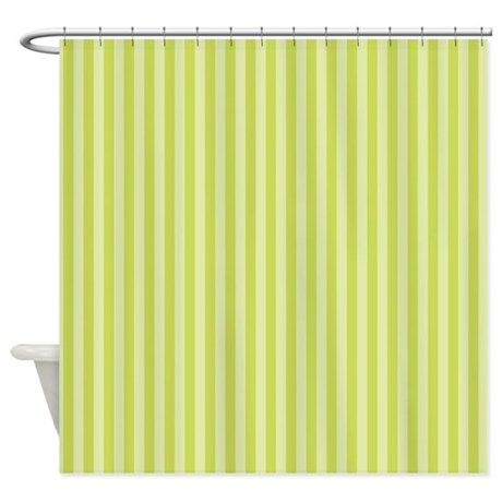 Stripes Single Green Shower Curtain By Admin CP45405617