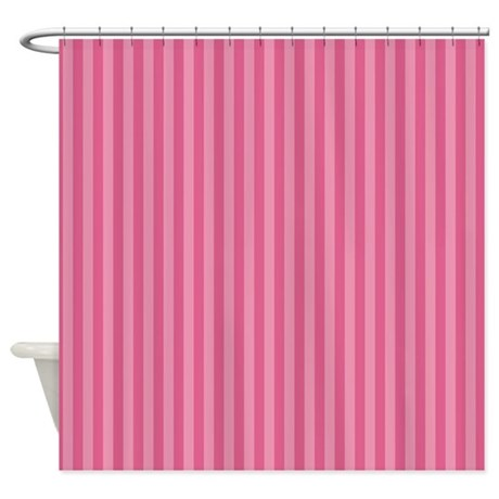 stripes single pink shower curtain by admin cp45405617