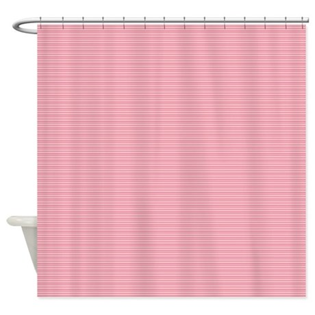 tiny stripes pink shower curtain