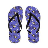 Silly Monkeys Flip Flops - Purple